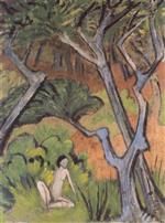 Forest Landscape with Nude (Waldlandschaft Mit Akt)