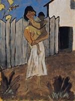 Gypsy Woman with Child (Zigeunerin mit Kind)