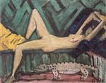Nude Lying on Sofa (Akt Auf Sofa Liegend)