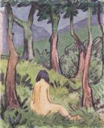 Sitting Nude under Trees
