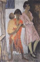Standing Gypsy Children (Stehende Zigeunerkinder)