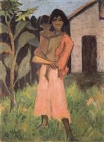 Standing Gypsy Woman with Child (Stehende Zigeunerin Mit Kind)