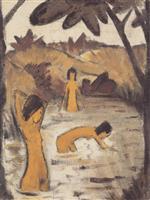Three Bathers in the Pond (Drei Badende Im Teich)