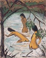 Three Bathers in the Water (Drei Badende Im Wasser)