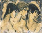 Three Girls in Profile