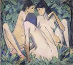 Three Girls in a Wood