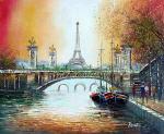 The Sunset Overlooking Paris