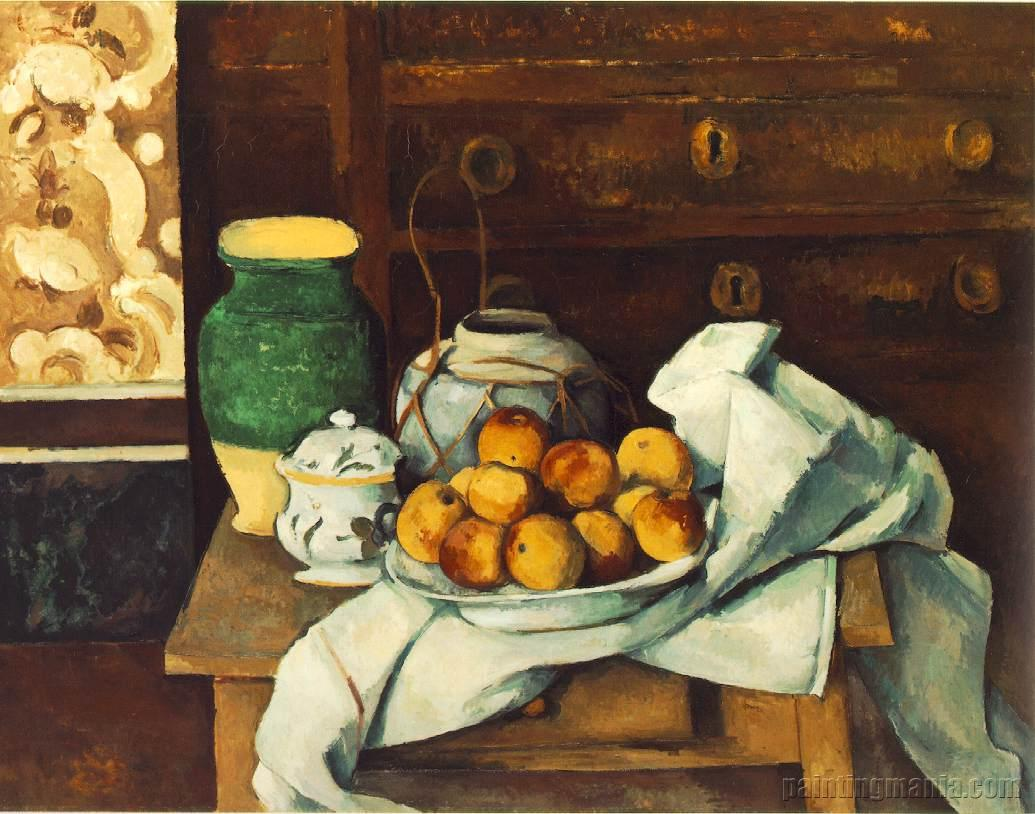 Still Life With Commode Paul Cezanne Paintings