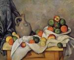 Curtain, Jug and Fruit