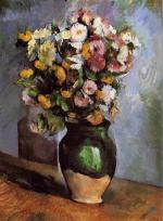 Flowers in an Olive Jar