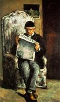 Louis-Auguste Cezanne, Father of the Artist, Reading 'l'Evenement'