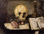 Still Life with Skull and Candlestick