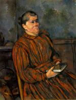 Woman in a Red-Striped Dress