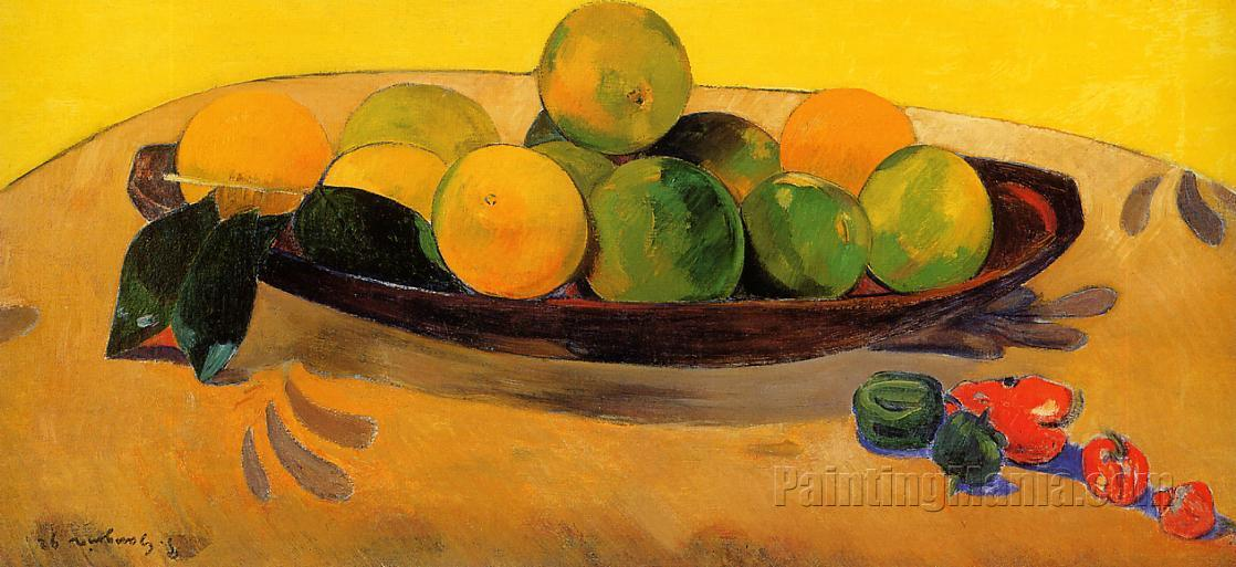 Still Life with Tahitian Oranges