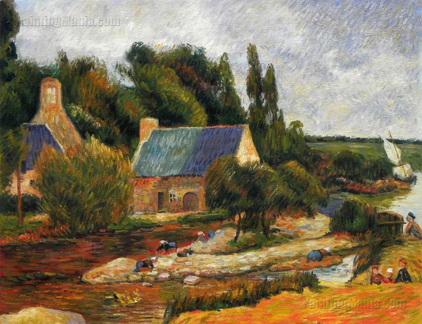 Washerwoman at Simonou Mill, Pont-Aven