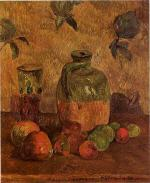 Apples, Jug, Iridescent Glass