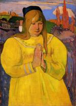 Breton Woman in Prayer