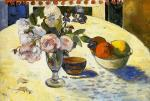 Flowers in a Fruit Bowl