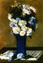 Flowers in a Vase with a Musical Score
