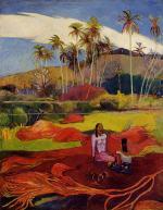 Tahitian Women under the Palms