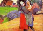 Two Breton Peasants on the Road