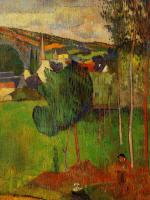 View of Pont-Aven from Lezaven