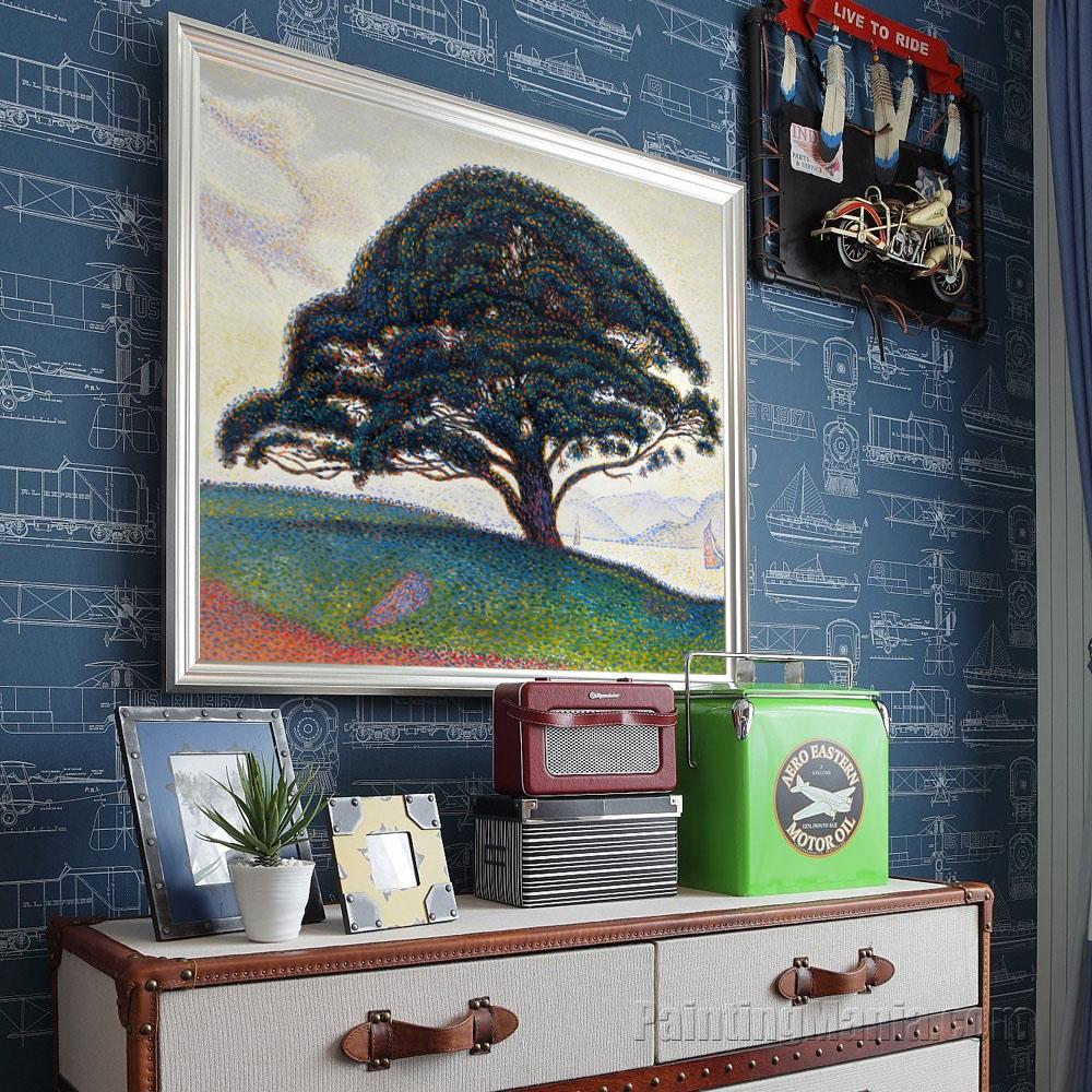 Bien-aimée The Bonaventure Pine in Saint-Tropez - Paul Signac Paintings @DF_01