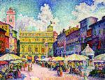 Market in Verona (La place aux herbes)