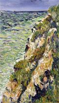 Port-en-Bessin, a Cliff