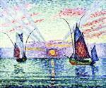 Tuna Fishing Boats, Sunset, Groix