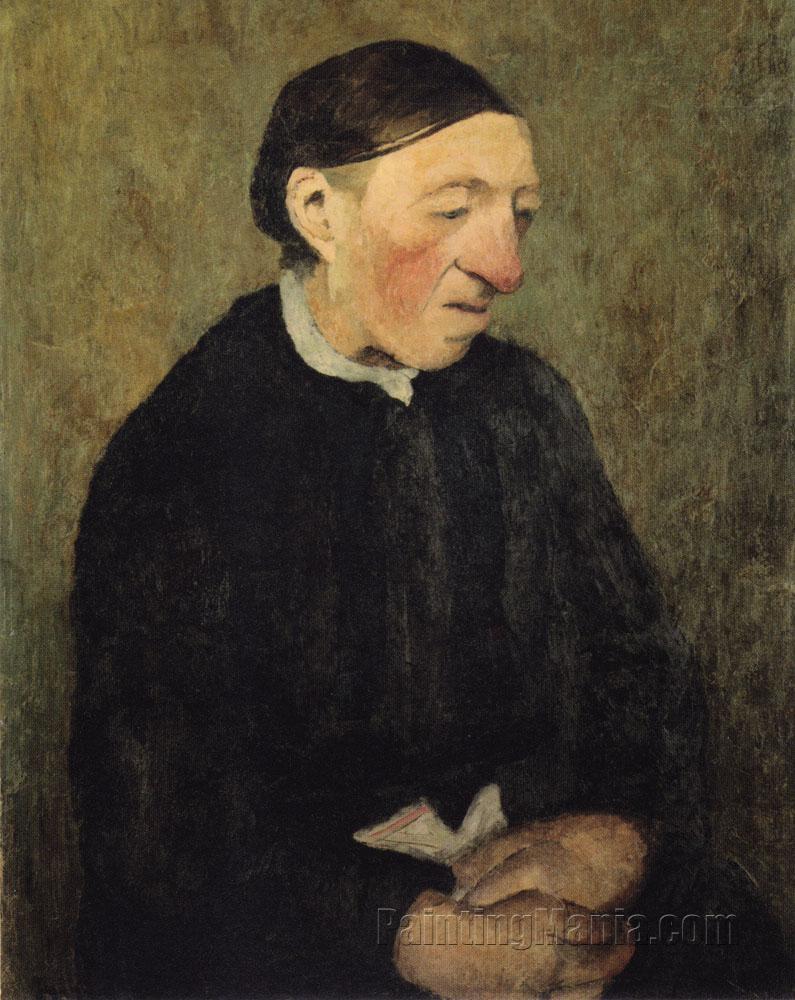 Alte Frau mit Taschentuch
