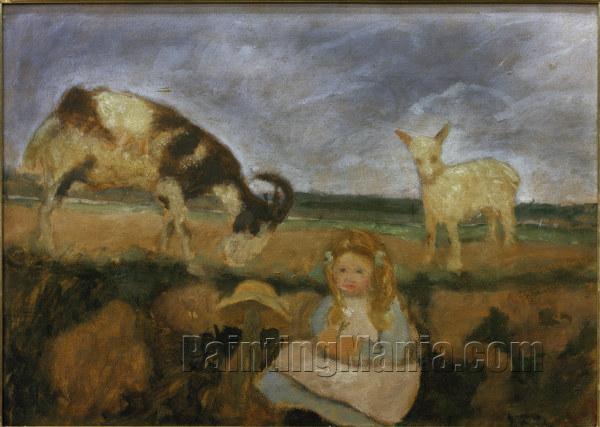 Elsbeth mit Ziegen