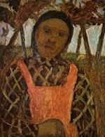Bauernkind mit rosa Schurze