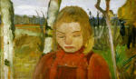 Girl in Front of Landscape