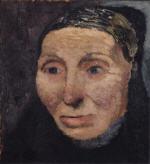 Kopf einer Bauernfrau