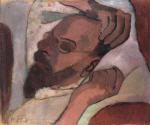 Otto Modersohn, schlafend