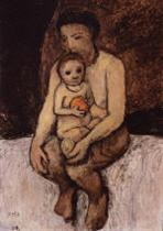 Seated Mother and Child on Her Lap