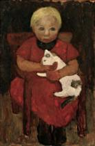 Seated Peasant Girl with Cat