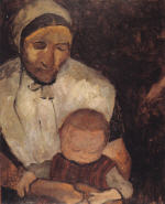 Seated Peasant Woman with Child on Lap