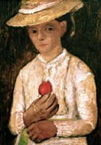 Self-Portrait with Red Rose