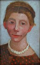 Self-Portrait with a White Pearl Necklace
