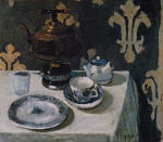 Still Life with Blue and White Porcelain Teapot