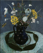 Still life with Flowers in a Blue Jug