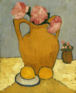Still Life with Pitcher, Peony and Orange
