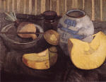 Still Life with Pumpkin and Ginger Jar