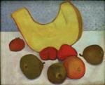 Stilleben mit Melonenscheibe (Stillleben mit Kurbisscheibe)