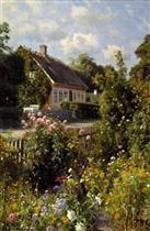 Bluhender Vorgarten