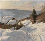 Sonniger Wintertag In Norwegen
