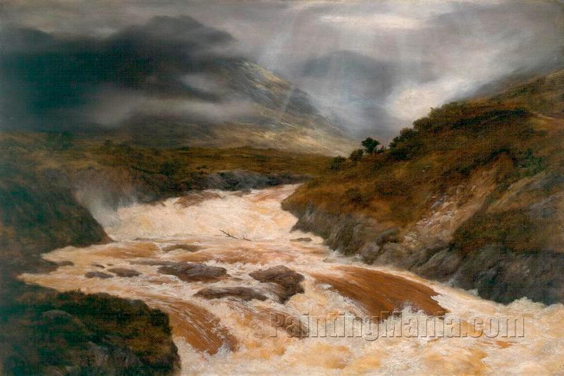 A Spate in the Highlands 1868