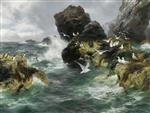 Ocean Surge White as the Sea Bird's Wing